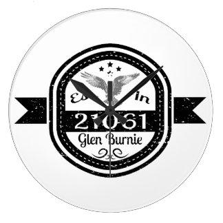 Established In 21061 Glen Burnie Large Clock