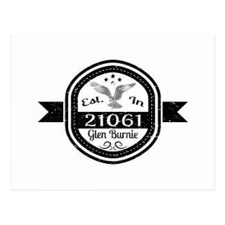 Established In 21061 Glen Burnie Postcard