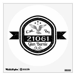 Established In 21061 Glen Burnie Wall Decal