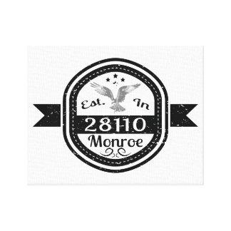 Established In 28110 Monroe Canvas Print