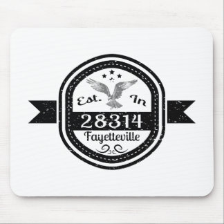 Established In 28314 Fayetteville Mouse Pad