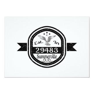Established In 29483 Summerville Card