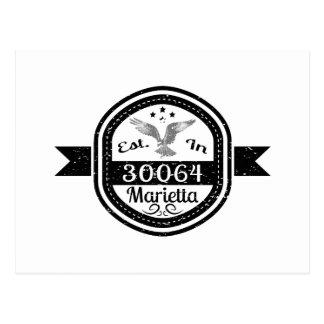 Established In 30064 Marietta Postcard