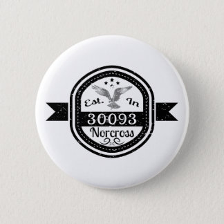 Established In 30093 Norcross Button