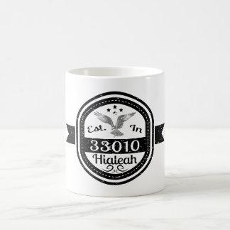 Established In 33010 Hialeah Coffee Mug