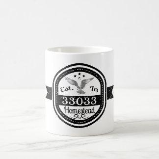 Established In 33033 Homestead Coffee Mug