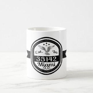 Established In 33142 Miami Coffee Mug