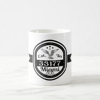 Established In 33177 Miami Coffee Mug
