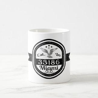 Established In 33186 Miami Coffee Mug