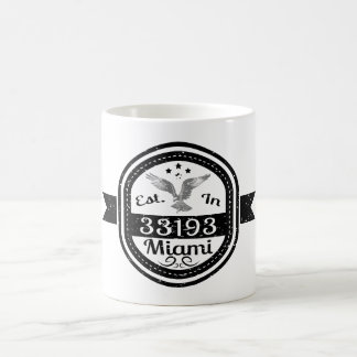 Established In 33193 Miami Coffee Mug