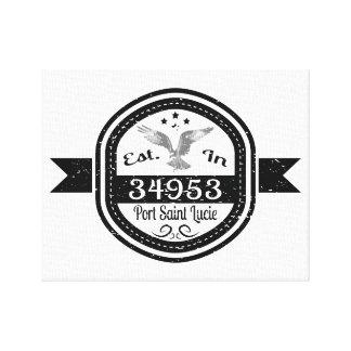 Established In 34953 Port Saint Lucie Canvas Print