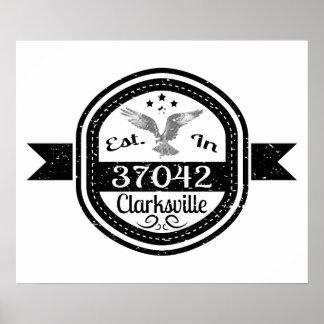 Established In 37042 Clarksville Poster