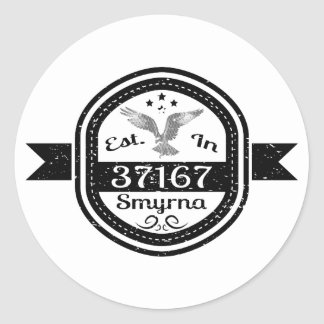 Established In 37167 Smyrna Classic Round Sticker