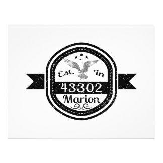 Established In 43302 Marion Flyer