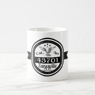 Established In 43701 Zanesville Coffee Mug