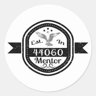 Established In 44060 Mentor Classic Round Sticker