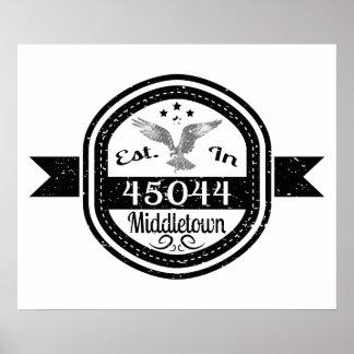 Established In 45044 Middletown Poster