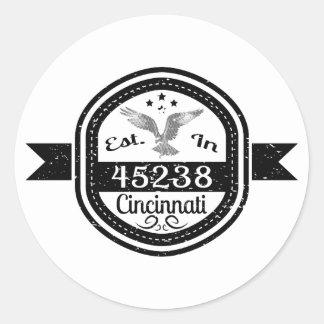 Established In 45238 Cincinnati Classic Round Sticker