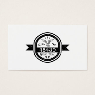 Established In 48439 Grand Blanc Business Card