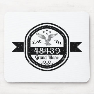 Established In 48439 Grand Blanc Mouse Pad