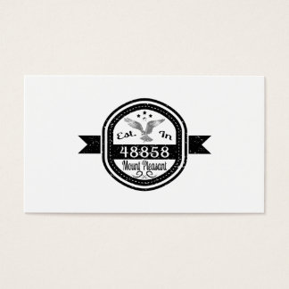 Established In 48858 Mount Pleasant Business Card