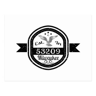 Established In 53209 Milwaukee Postcard