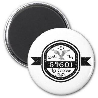 Established In 54601 La Crosse 2 Inch Round Magnet
