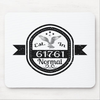Established In 61761 Normal Mouse Pad