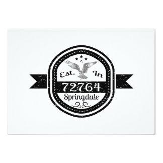 Established In 72764 Springdale Card