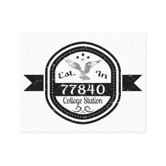 Established In 77840 College Station Canvas Print