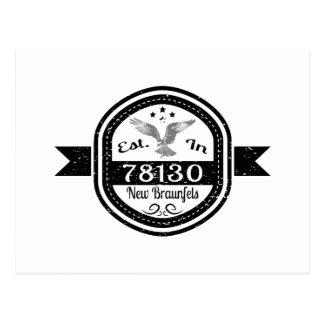Established In 78130 New Braunfels Postcard