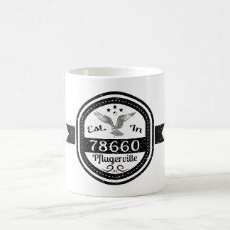 Established In 78660 Pflugerville Coffee Mug