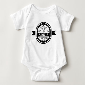 Established In 80012 Aurora Baby Bodysuit