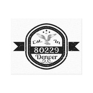 Established In 80229 Denver Canvas Print