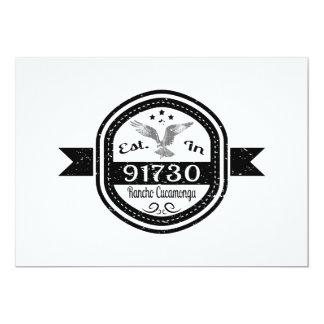 Established In 91730 Rancho Cucamonga Card