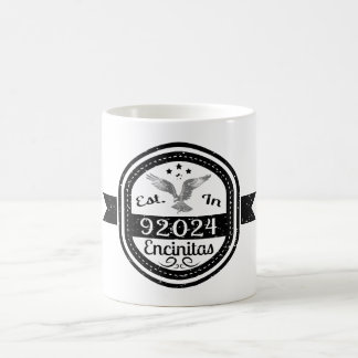 Established In 92024 Encinitas Coffee Mug