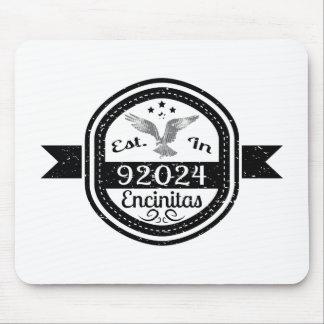 Established In 92024 Encinitas Mouse Pad