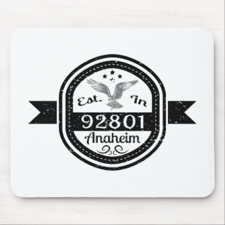 Established In 92801 Anaheim Mouse Pad