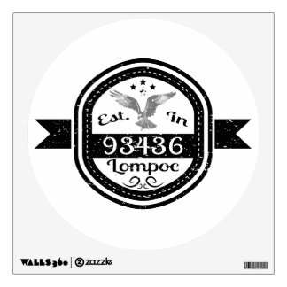 Established In 93436 Lompoc Wall Sticker