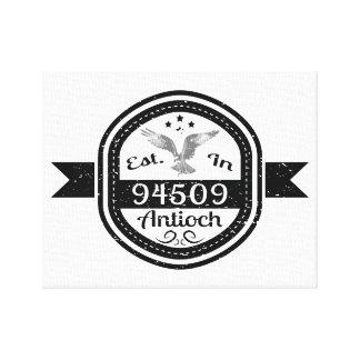 Established In 94509 Antioch Canvas Print