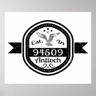 Established In 94509 Antioch Poster