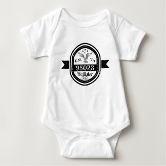 Established In 95023 Hollister Baby Bodysuit