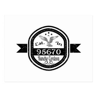 Established In 95670 Rancho Cordova Postcard