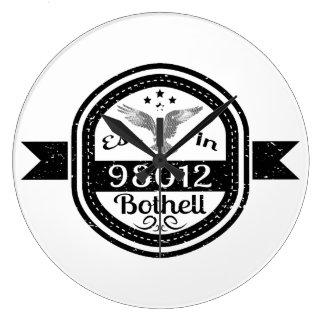 Established In 98012 Bothell Large Clock