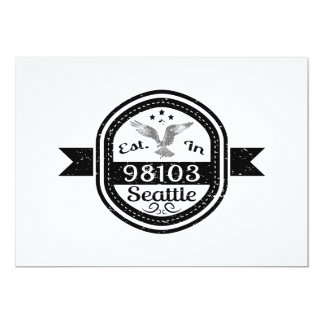 Established In 98103 Seattle Card