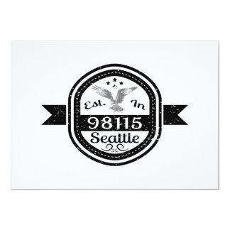 Established In 98115 Seattle Card