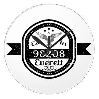 Established In 98208 Everett Large Clock