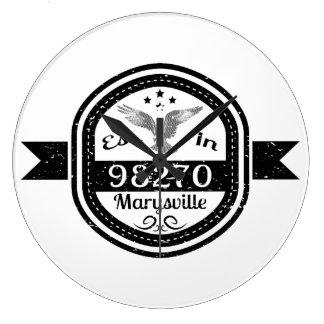 Established In 98270 Marysville Large Clock
