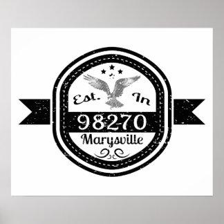 Established In 98270 Marysville Poster
