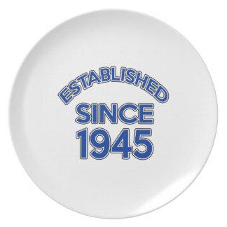 Established Since 1945 Party Plates